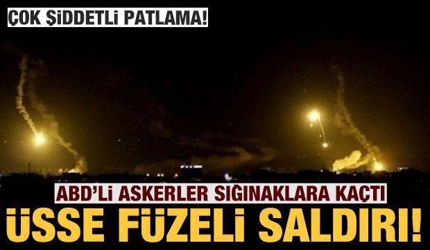 Son dakika: Çok şiddetli patlama: ABD askeri üssüne füzeli saldırı!