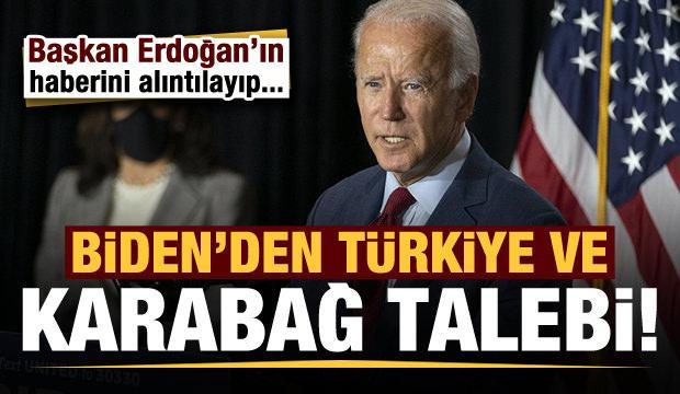 Biden'den Türkiye ve Dağlık Karabağ talebi!