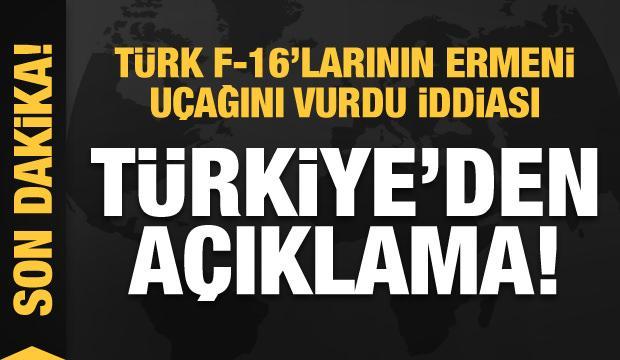 Türk F-16'larının Ermeni savaş uçağını vurdu iddiası! Türkiye'den son dakika açıklaması