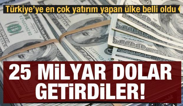 Türkiye'ye en çok yatırım yapan ülke belli oldu: Doğrudan yatırımlar 25 milyar doları geçti
