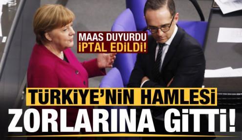 Türkiye'nin hamlesi Almanya'nın zoruna gitti! İptal edildi...