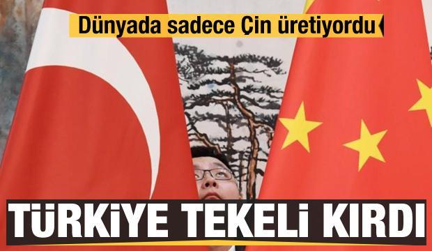 Dünyada sadece Çin üretiyordu! Türkiye Çin'in tekelini kırdı