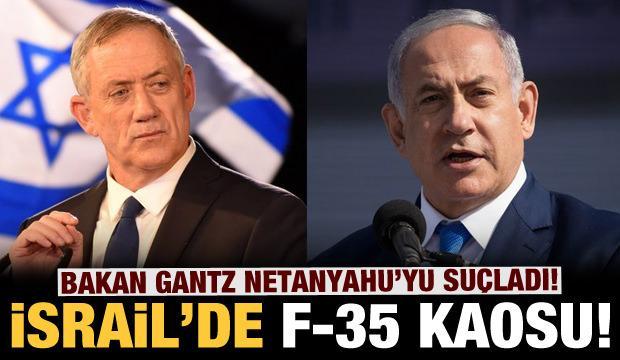 İsrail karıştı: Savunma Bakanı'ndan Netanyahu'ya F-35 suçlaması