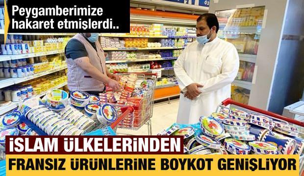 İslam ülkelerinden Fransız ürünlerine boykot genişliyor!