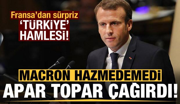 Macron'dan Erdoğan'ın tepkisi sonrası sürpriz hamle!