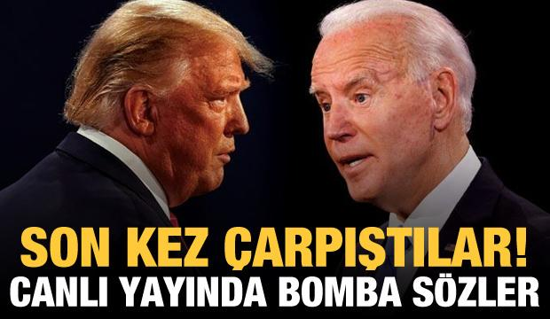 Trump-Biden dünyanın gözü önünde son kez çarpıştı! Canlı yayında bomba sözler