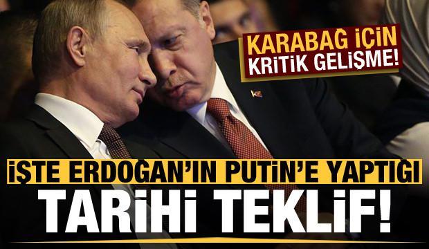 Başkan Erdoğan'ın Putin'e yaptığı tarihi teklif ortaya çıktı! 'Karabağ' için kritik gelişme