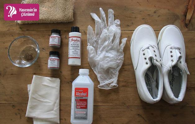 Beyaz ayakkabıyı boyamanın püf noktaları...