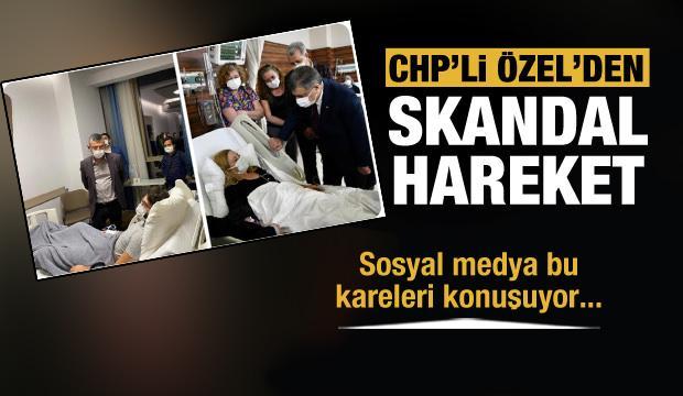 CHP'li vekilin tavrı büyük tepki çekti! Özgür Özel'den skandal hareket..