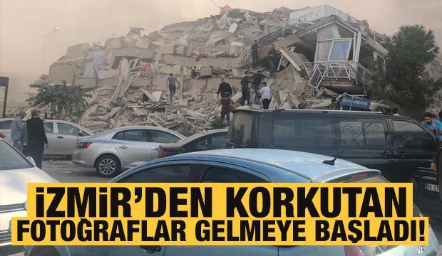 Deprem sonrası İzmir'den korkutan fotoğraflar! Vatandaşlar sokaklara döküldü!