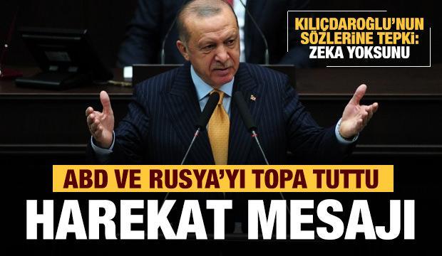 Erdoğan'dan son dakika yeni harekat mesajı! Kılıçdaroğlu'na tepki: Sen ne zekasız...