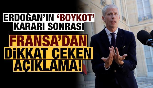 Erdoğan'ın 'boykot' çağrısı sonrası Fransa'dan dikkat çeken açıklama