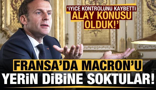 Fransa'da Macron'u yerin dibine soktular: Alay konusu olduk!
