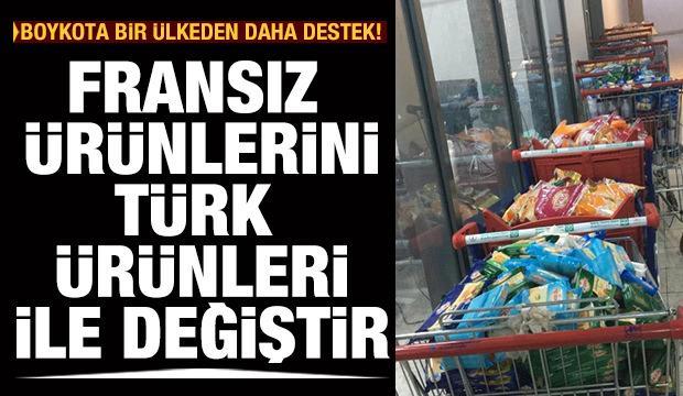 """""""Fransız ürünlerine boykot, Türk ürünlerine teşvik"""" Kampanyası"""