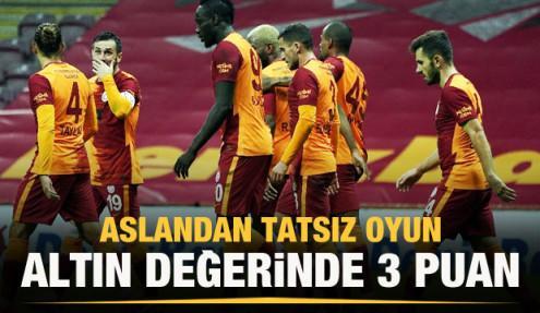 Galatasaray tek attı 3 aldı