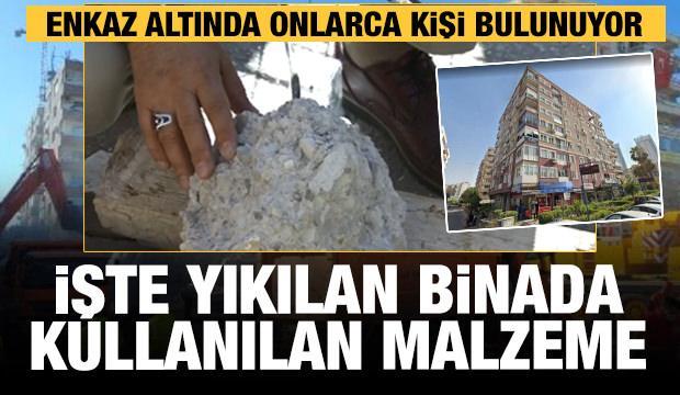 İşte İzmir'de yıkılan Rıza Bey Apartmanı'nda kullanılan malzeme!