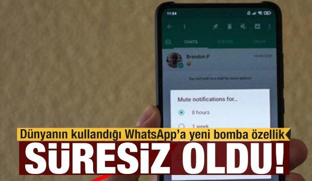 İşte WhatsApp'ın yeni bomba özelliği: Bugün süresiz oldu