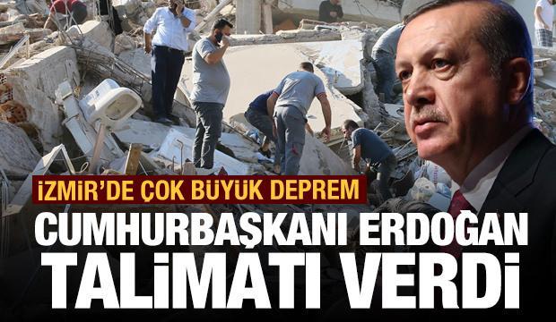 İzmir'de çok büyük deprem! Erdoğan'dan son dakika açıklaması
