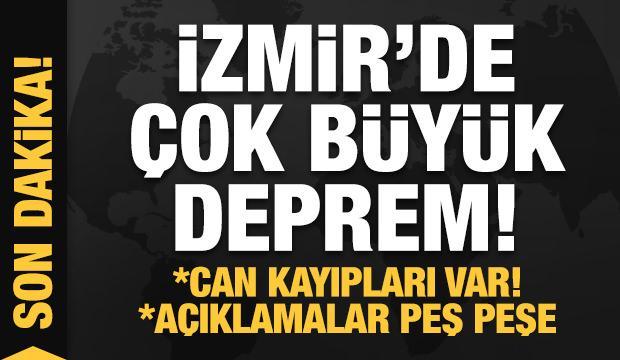 İzmir'de çok şiddetli deprem! Acı haberler geliyor! Son dakika açıklamaları