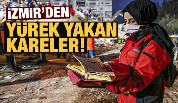 İzmir depremi sonrası yürek yakan fotoğraflar!