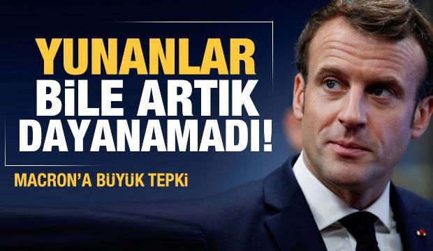 Macron'a bir tepki de Yunanistan'dan