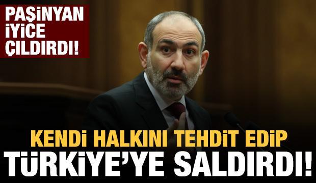 Paşinyan çıldırdı! Halka böyle seslendi: Türkiye tankla tüfekle geliyor
