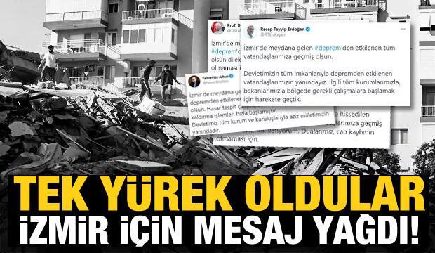 Siyasi isimlerden İzmir'e destek mesajları