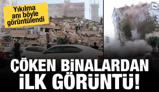 Son dakika haberi: İzmir'de çöken binalardan ilk görüntü!