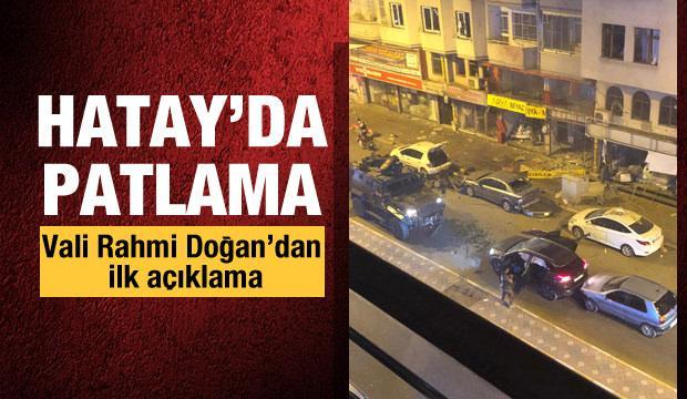Son Dakika: Hatay'da patlama meydana geldi!