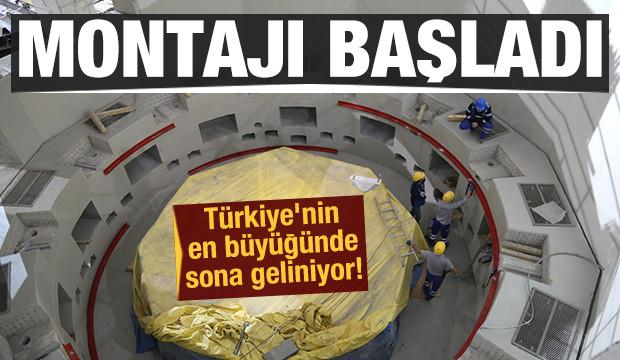 Türkiye'nin en büyüğünde sona geliniyor! Montajlar başladı