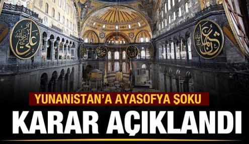 Yunanistan'a 'Ayasofya' şoku