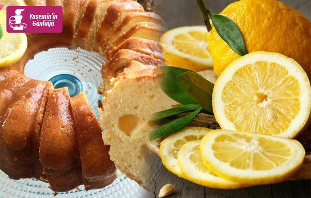 Diyete uygun Enfes limonlu kek tarifi!