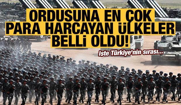 Ordusuna en çok para harcayan ülkeler belli oldu! İşte Türkiye'nin sırası...