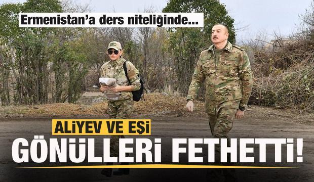 Aliyev gönülleri fethetti! Ermenistan'a ders niteliğinde...