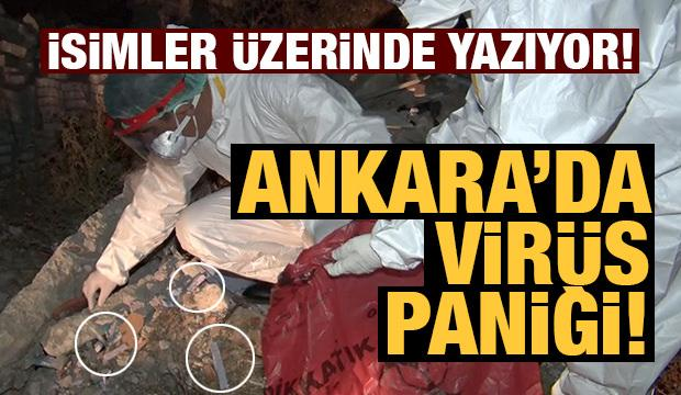 Ankara'da koronavirüs paniği! Mahalle arasında atık tahlil tüpleri bulundu...
