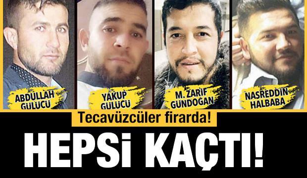 Ceza alacaklarını öğrendiler... Tecavüzcüler firarda!