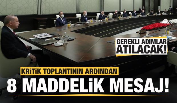 Cumhurbaşkanlığı Külliyesi'ndeki kritik toplantının ardından açıklama!