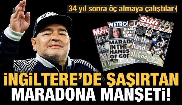 İngiltere'de şaşırtan Maradona manşetleri!