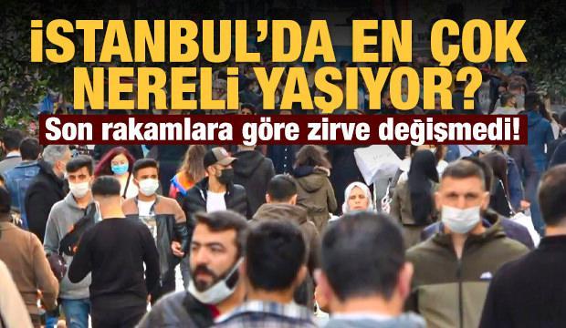 İstanbul'da yaşayanlar en çok hangi ilden?