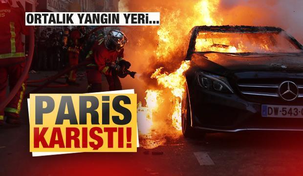 Paris karıştı! Ortalık yangın yeri...
