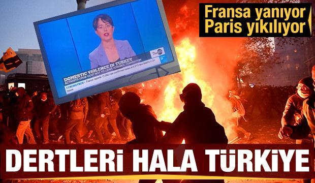 Paris sokaklarında meydan savaşı: Polisten göstericilere şiddet