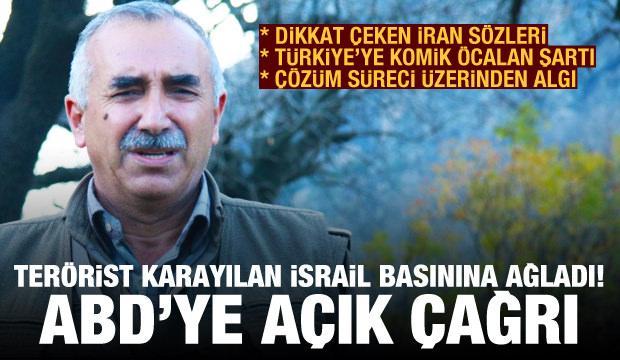 PKK'nın elebaşısı Murat Karayılan İsrail basınına ağladı! Türkiye'ye komik Öcalan şartı