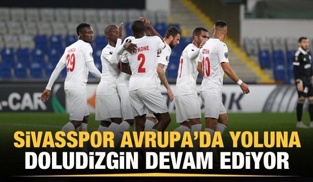 Sivasspor Avrupa'da yoluna doludizgin devam ediyor