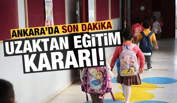 Son dakika haberi: Ankara'da kritik uzaktan eğitim kararı!