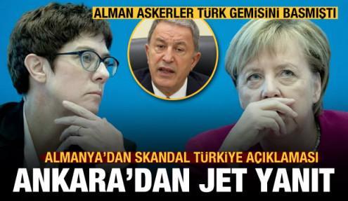 Türk gemisini basan Almanya'dan Türkiye açıklaması! Ankara'dan jet yanıt