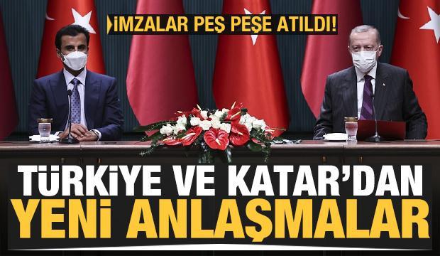 Türkiye ve Katar'dan önemli anlaşmalar! İmzalar peş peşe atıldı