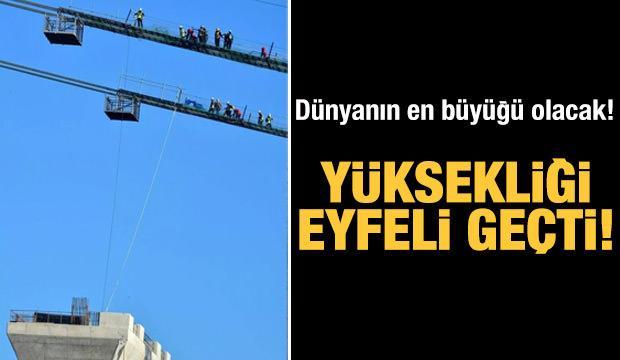 Yüksekliği Eyfel Kulesi'nin geçti... Dünyanın en büyüğü olacak!