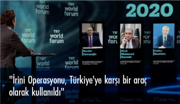 Bakan Çavuşoğlu TRT World Forum 2020'de konuştu