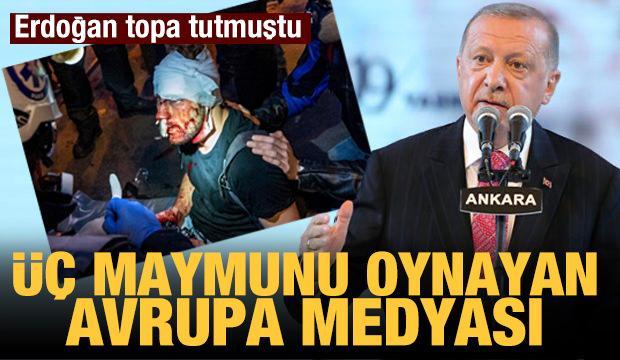 """Erdoğan'ın """"Uluslararası medya 3 maymunu oynuyor"""" dediği görüntüler"""