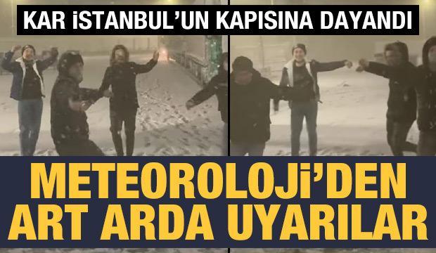 İstanbul'un yanı başında kar yağışı başladı